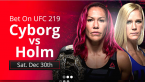 Cyborg vs. Holm Fight Odds - UFC 219 Betting