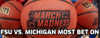 Sunday's NCAA Tournament Betting Action Report