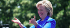 Hillary Clinton Peaks at 1-7 Odds to be Next POTUS, Highest Margin to Date