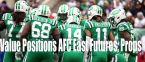 Value Positions on NFL Futures and Props 2019: AFC East