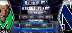 What Are The Odds on the Marshall vs. Navy Week 1 Game