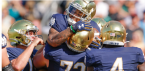 What is the Spread on the Notre Dame Fighting Irish vs. Wisconsin Badgers Week 4 Game