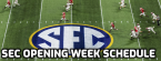 SEC Unveils Opening Week College Football Schedule