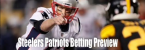 Steelers vs. Patriots Sunday Night Football Line at -5.5 Some Books