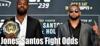 Jon Jones vs Thiago Santos UFC 239 Fight Odds