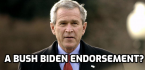 How About That George W. Bush Endorsement of Biden?  Can We Have Some Odds?