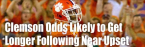 Clemson Championship Odds Likely to Get Longer After Nearly Losing to UNC