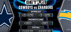 Cowboys Chargers Game Player Props