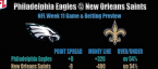 Philadelphia Eagles vs. New Orleans Saints Prediction, Betting Preview - Week 11