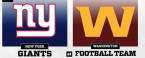 NFL Week 2 TNF Odds – New York Giants at Washington Football Team