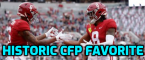 Alabama Biggest Favorite in CFP History and Surprise Heisman Frontrunner