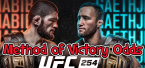 Khabib vs. Gaethje UFC 254 Method of Victory, Rounds Betting Prop Bets