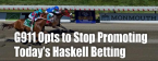 Gambling911 Won't Promote 2019 Haskell Invitational Betting