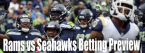 NFL Betting – Los Angeles Rams at Seattle Seahawks