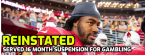 NFL Player Reinstated After Serving Suspension for Betting on Games