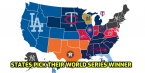 Map Shows Which Team Every State is Picking for World Series