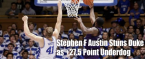 Stephen F. Austin Stuns Duke as +27.5 Dog