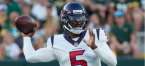 Tyrod Taylor Worth 4 Points as Texans Line Drops to +7.5